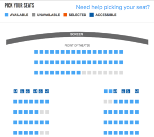 Theater seating selection