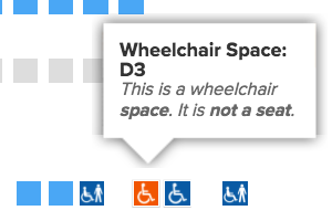 Wheelchair space
